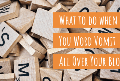 word vomit on your blog