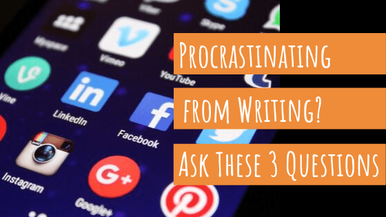 business owner procrastinating from writing
