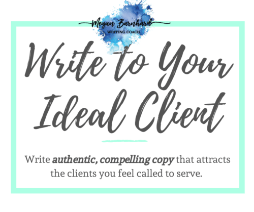 write to your ideal client coaching