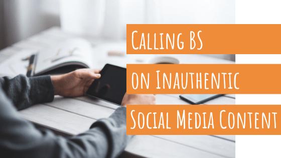 Megan Barnhard writing coach calls BS on inauthentic social media content